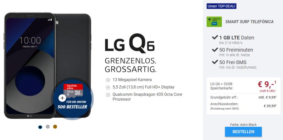 LG Q6 Smartphone Deal