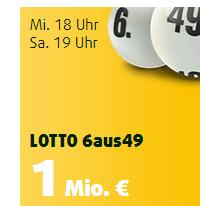 Mittwochslotto! 2 Felder Lotto 6aus49 für 2 Ziehungen + 10 Rubbellose für 49 Cent als Lottoland Neukunde!