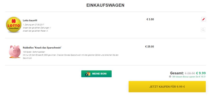 3 Reiehn Lotto + 100 Rubbellose nur 9,99 Euro