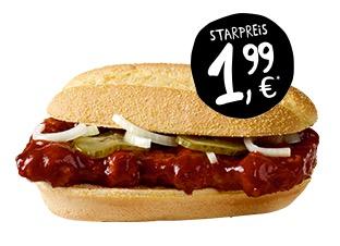 McRib bei McDonalds nur 1,99