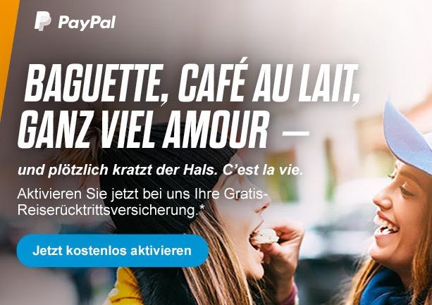 Kostenlose Reiserücktrittsversicherung bei Paypal