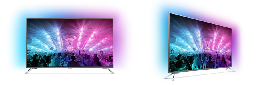 75 zoll fernseher mit ambilight philips 75pus7101 bei. Black Bedroom Furniture Sets. Home Design Ideas