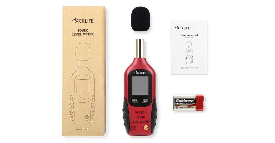 Schallpegelmesser oder DBmeter von Tacklife bei Amazon