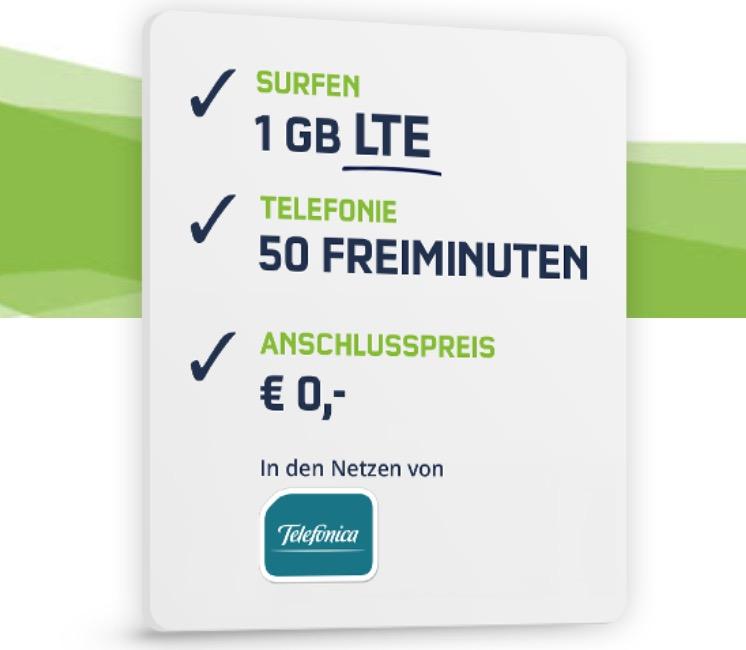 Telefonica Smart Surf Tarif mit 50 Min + 50 SMS + 1GB Daten nur 2,99 Euro monatlich