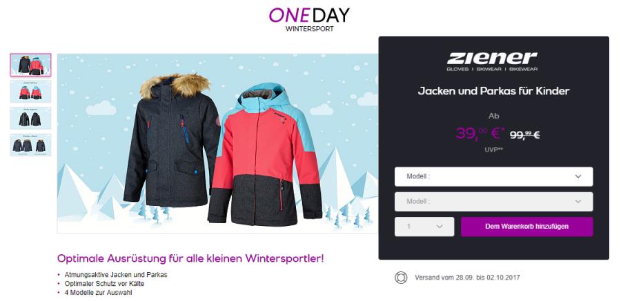 Ziener Jacken und Parkas für Kinder bei Vente-Privee