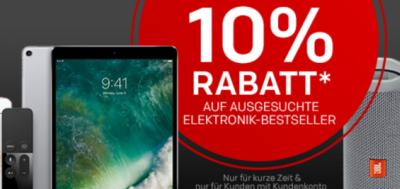 Bis morgen: Rakuten 10% Gutscheincode auf viele ausgewählte Elektronik Beststeller!