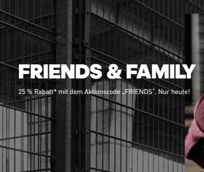 Nur heute bei Adidas 25% Gutschein auf alle Outlet Artikel und Family & Friends Angebote!