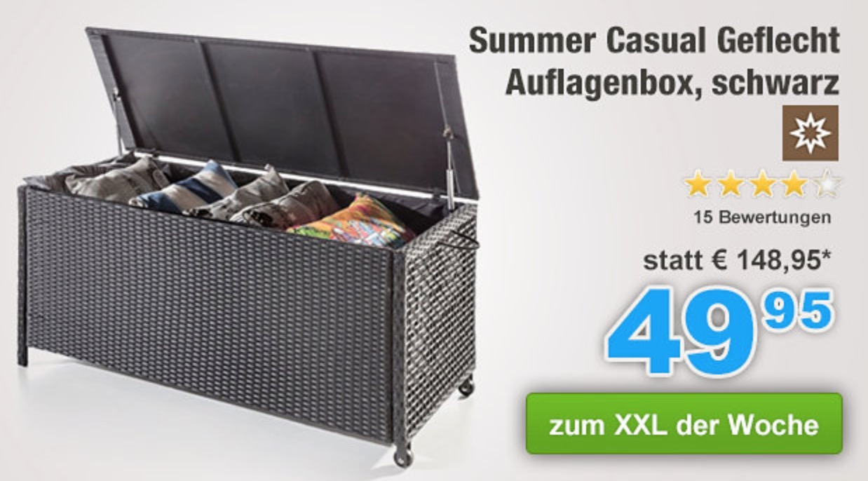 Summer Casual Geflecht Auflagenbox für nur 49,95 Euro inkl. Versand