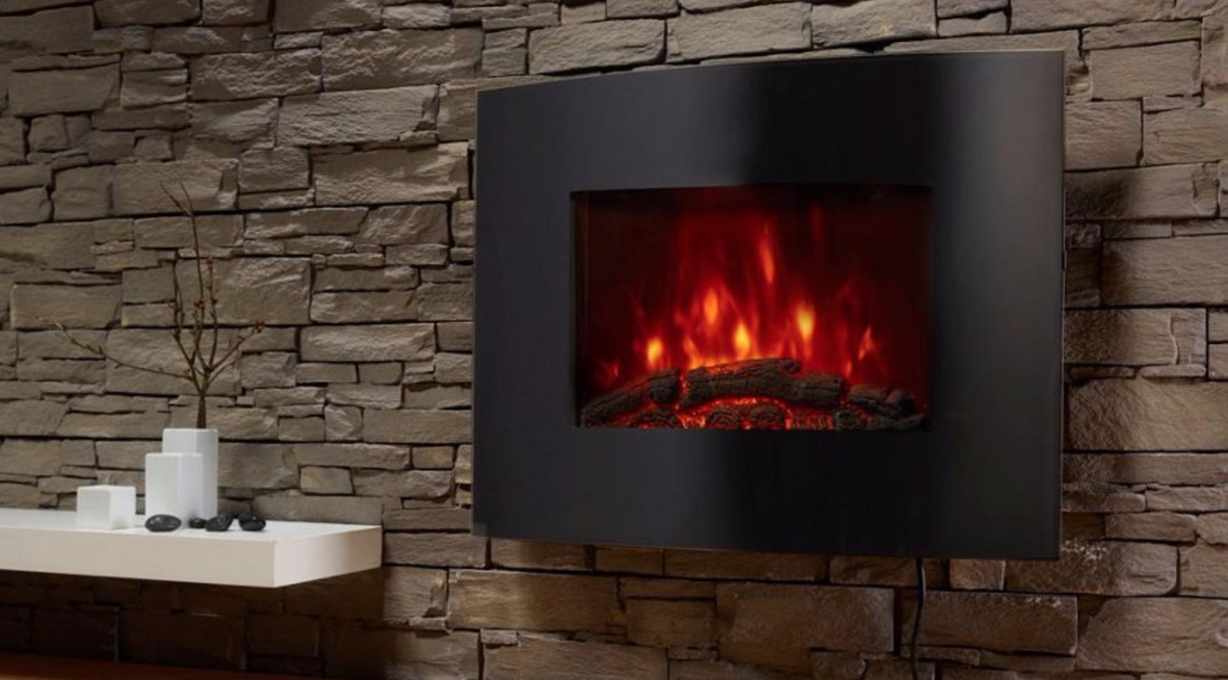 el fuego aarau elektrokamin mit heizfunktion und kaminfeuer effekt f r nur 74 39 euro. Black Bedroom Furniture Sets. Home Design Ideas