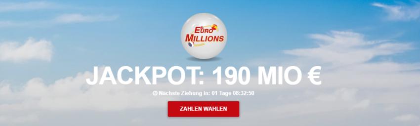 190 Mio Euiromillions Jackpot