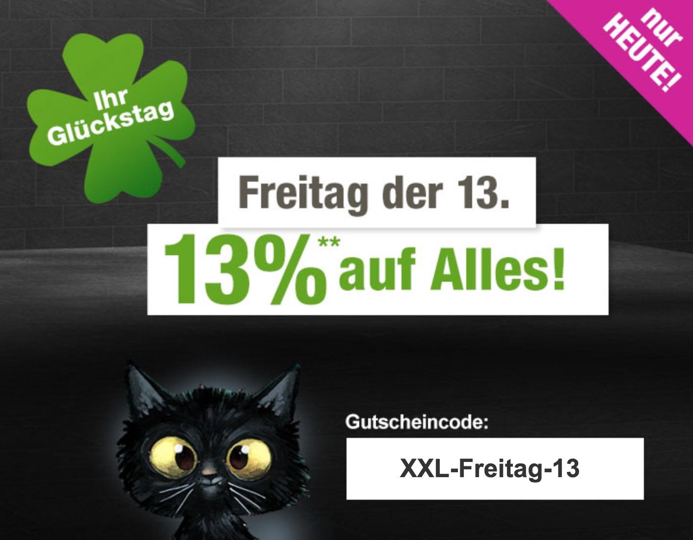 13% Rabatt auf das gesamte Sortiment im GartenXXL Onlineshop