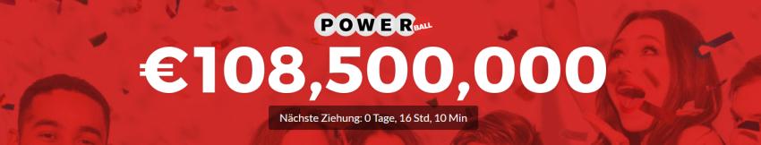 108,5 Mio Euro beim Powerball gewinnen