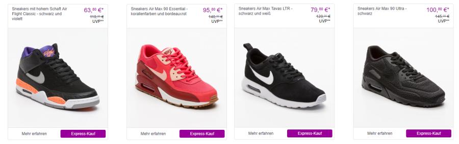 Reduzierte nike Sneakers bei Vente-Privee