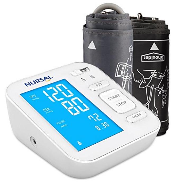 Nursal Oberarm-Blutdruckmessgerät mit großem digitalen Display mit Hintergrundlicht nur 17,99 Euro bei Prime inkl. Versand