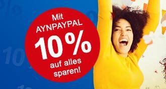 10% Paypal Gutschein bei Allyouneed für registrierte Benutzer