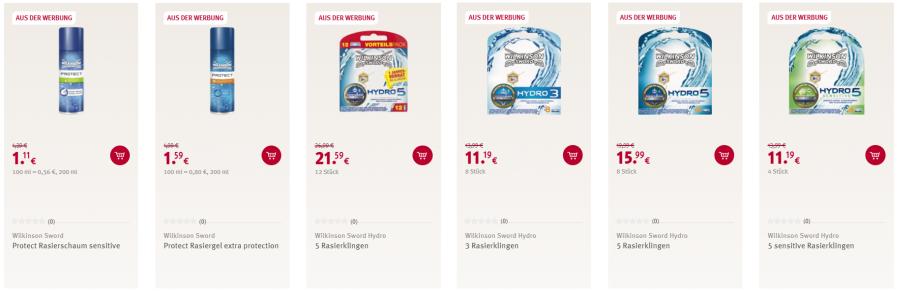 Reduzierte Wilkonson Produkte bei Rossmann