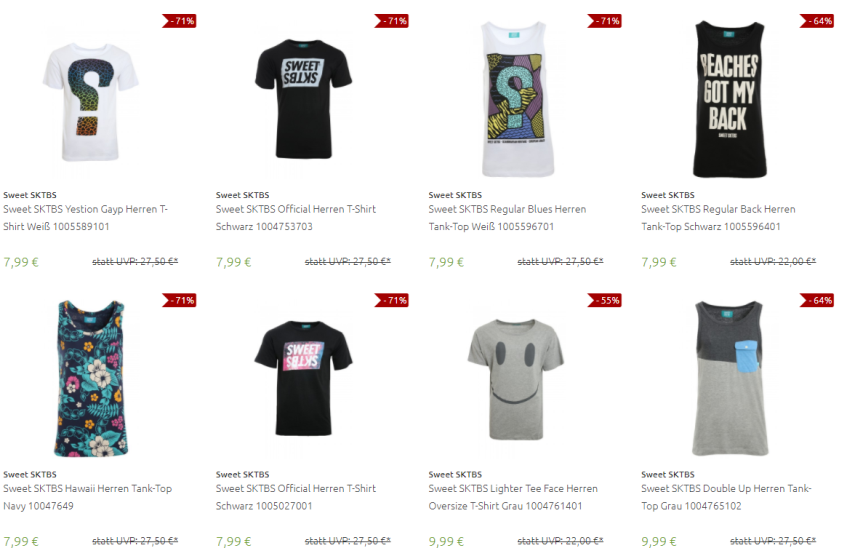 T-Shirts bei Outlet46