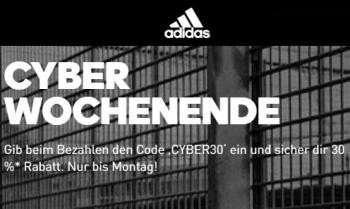 Letzter Tag! 30% Rabatt auf fast Alles im Adidas Onlineshop + kostenloser Versand