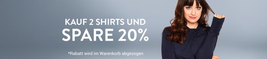 20% auf Shirts