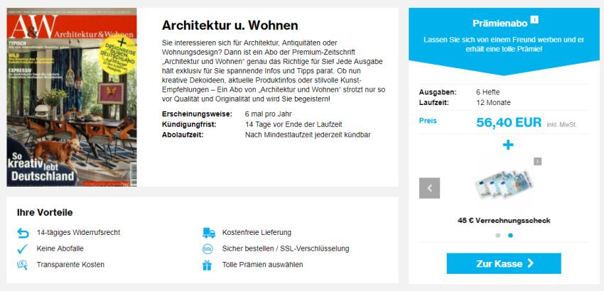 Architektur und Wohnen Abo