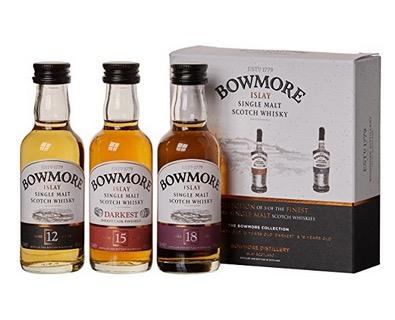 Bowmore Whisky Miniaturen-Set (3x 0,05 Liter) in 12, 15 und 18 Jahre für nur 17,99 Euro