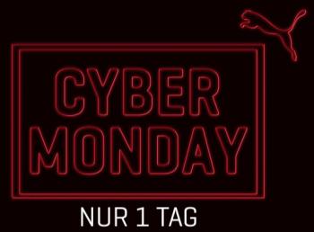 Cyber Monday bei Puma mit 30% oder 50% Rabatt auf viele Artikel + 30% Gutschein für den nächsten Einkauf