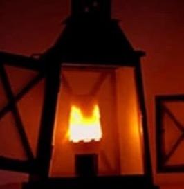 Flackernde LED-Glühbirne