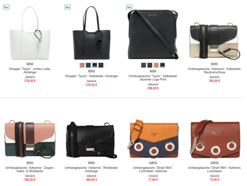 Reduzierte Handtaschen