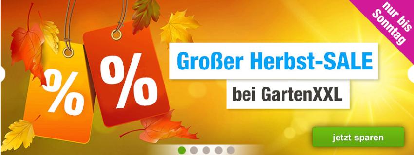 Herbst Sale bei GartenXXL