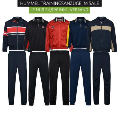 Hummel Trainingsanzüge für 24,99 Euro bei Outlet46