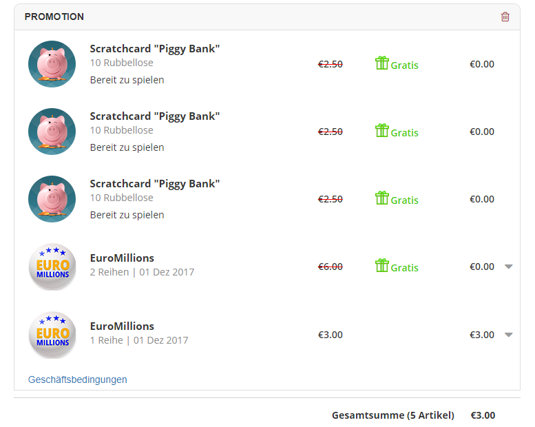 Jackpot.com Warenkorb