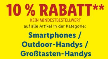 LIDL Onlineshop: Nur heute 10% Rabatt auf Smartphones, Outdoorhandys und Großtastenhandys
