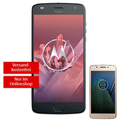 Mega-Knaller! Moto Z2 Play + JBL SoundBoost 2 + Lenovo Moto G5 mit2GB Tarif für nur 14,99 Euro