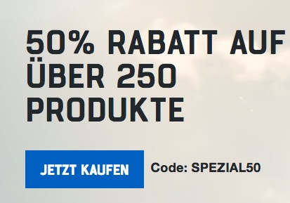 50% auf fast 300 Produkte