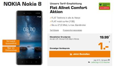 Nokia 8 mit Tarif bei Saturn