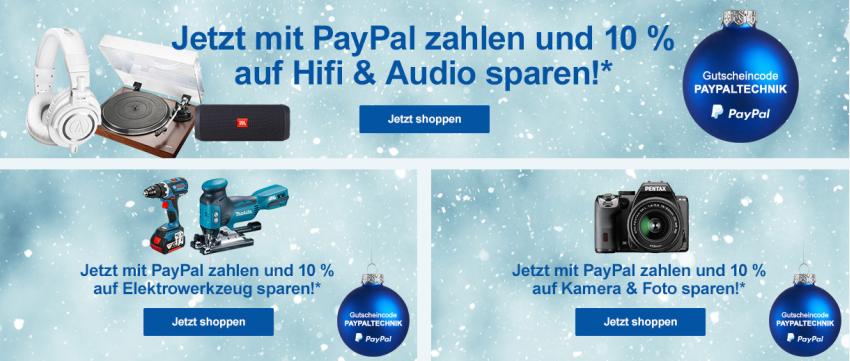 10% Rabatt bei Zahlung via Paypal