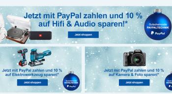 10% Paypal-Gutschein auf Audio & Hifi, Kamera & Foto und Elektrowerkzeuge bei Allyouneed