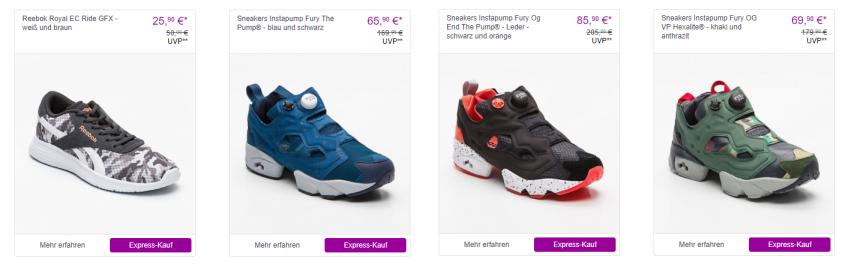 Günstige Reebok Sneakers bei Vente Privee