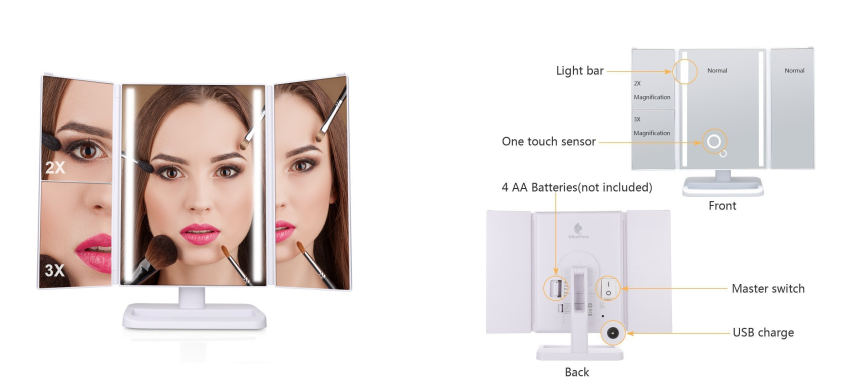 LED Schminkspiegel