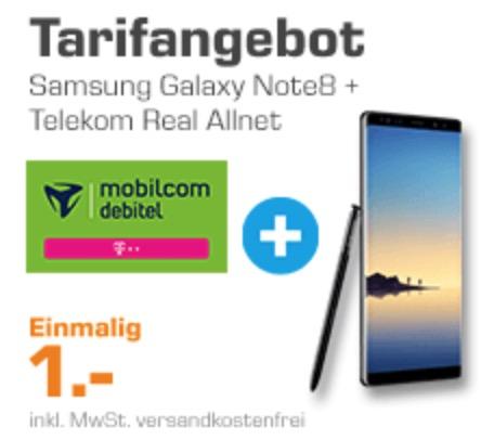 top allnet comfort flat im telekom netz mit 4gb daten mtl 36 99 euro samsung galaxy note 8. Black Bedroom Furniture Sets. Home Design Ideas