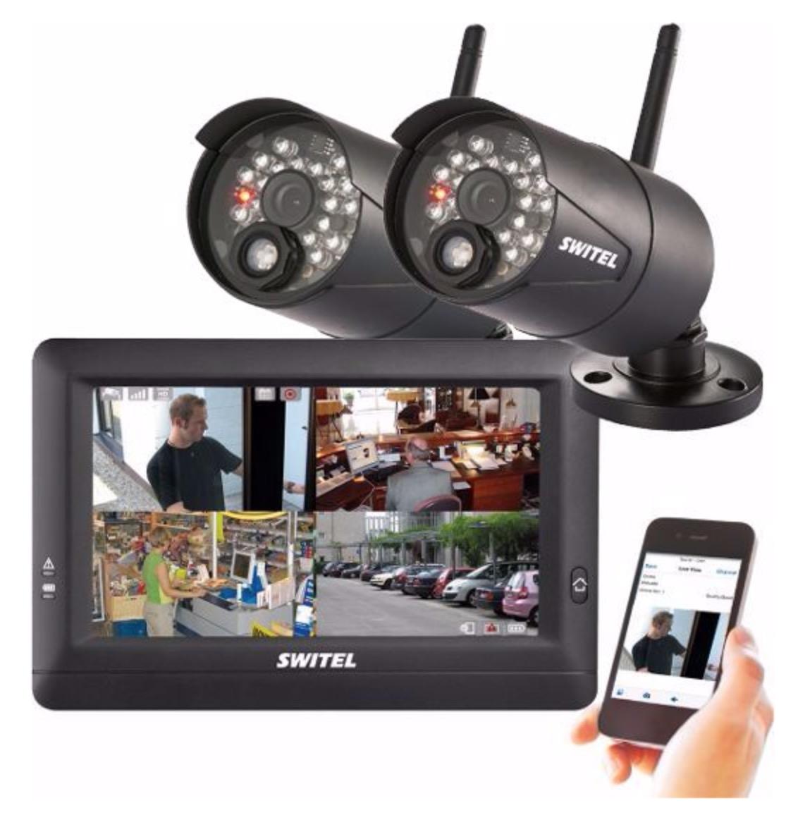 Pricedrop! Switel HSIP 5000 Drahtloses Digital-HD-Überwachungssystem mit 2 Kameras für nur 248,35 Euro