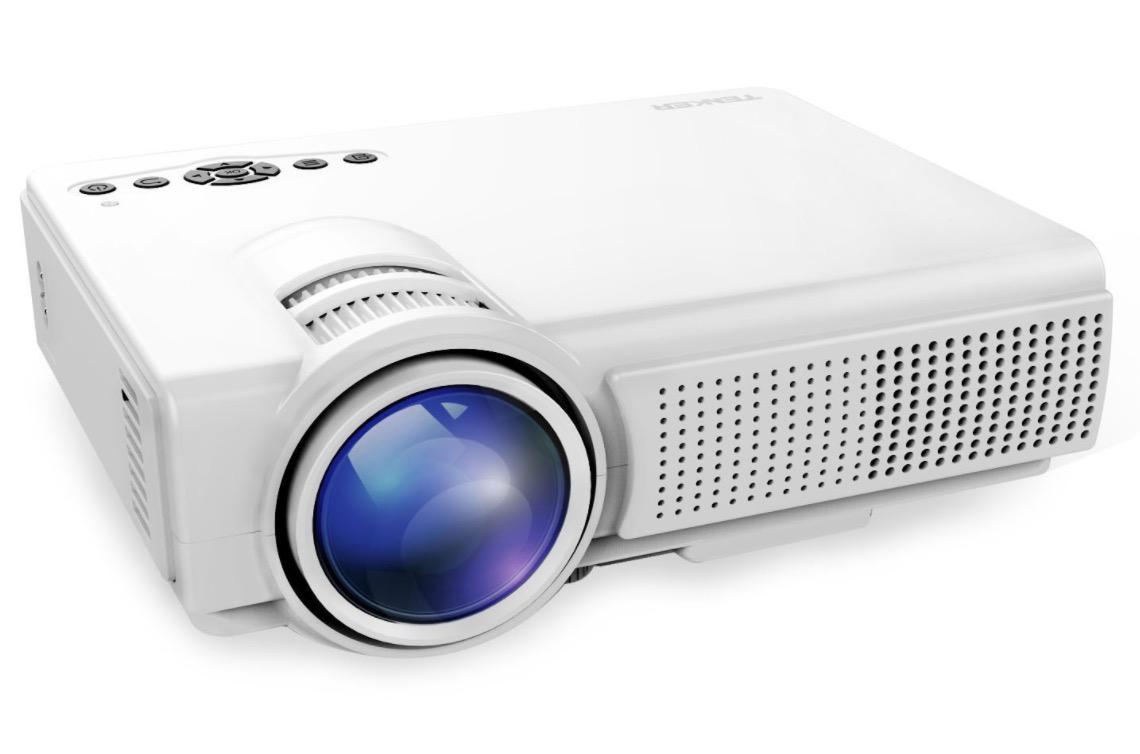 TENKER Q5 Mini LED Beamer (800 x 480px) mit 1500 Lumen für nur 53,38 Euro inkl. Versand