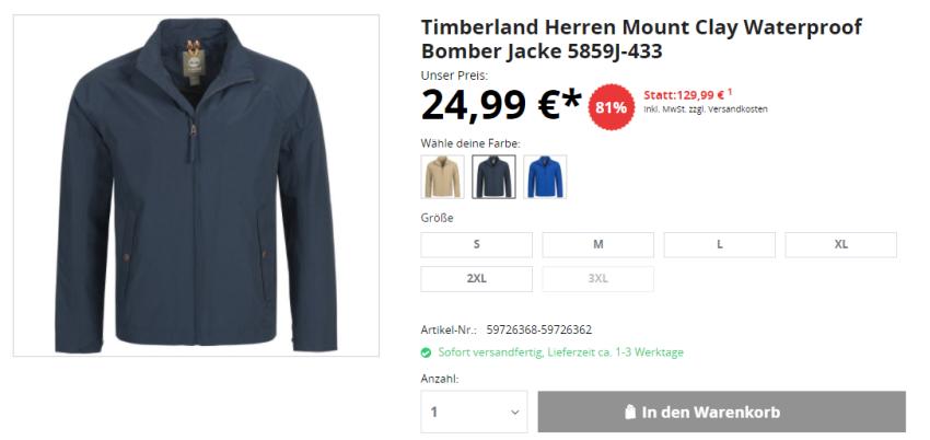 Timberland Jacke
