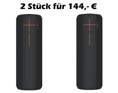 82,- Euro gespart! Ultimate Ears UE Boom 2 Bluetooth Lautsprecher im Doppelpack für 144,- Euro