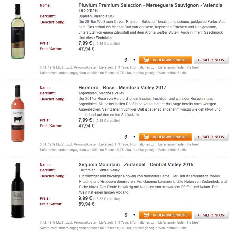 55% auf nicht reduzierte Weine bei Weinvorteil