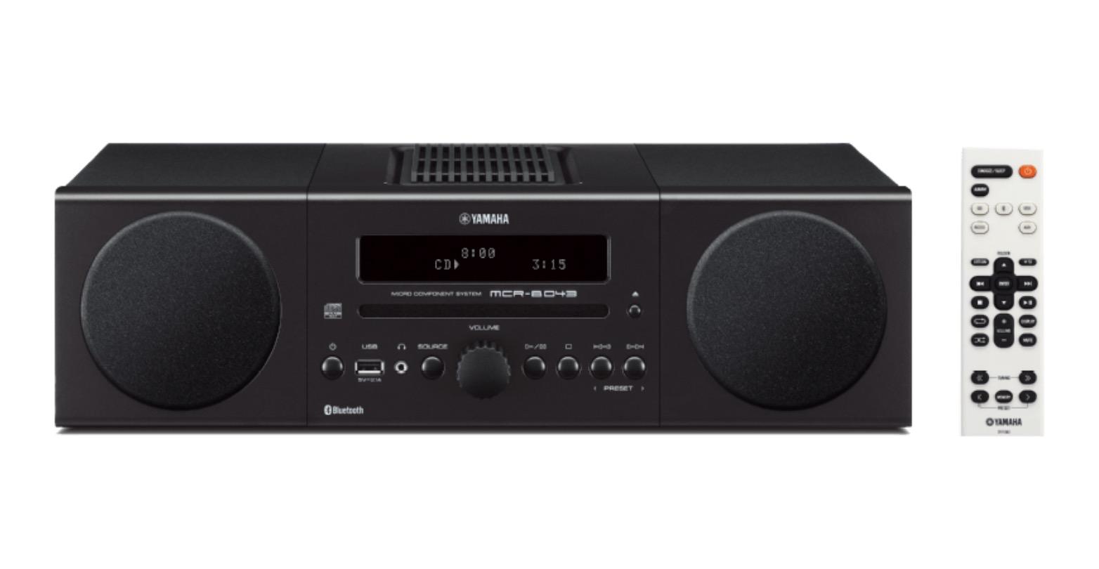YAMAHA MCR-B043 Kompaktanlage in schwarz, blau, rot oder weiß für je 149,- Euro