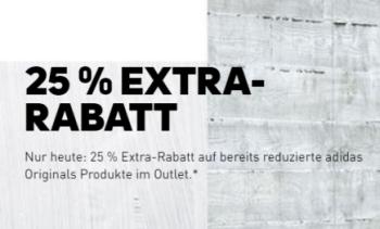 Nur heute: 25% Extra Rabatt auf bereits reduzierte Adidas Originals Artikel im Adidas Onlineshop