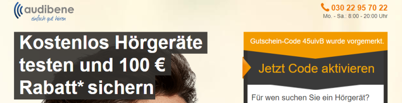 Audibene 100,- Euro Rabatt
