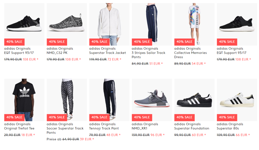 Caliroots reduzierte Adidas Artikel