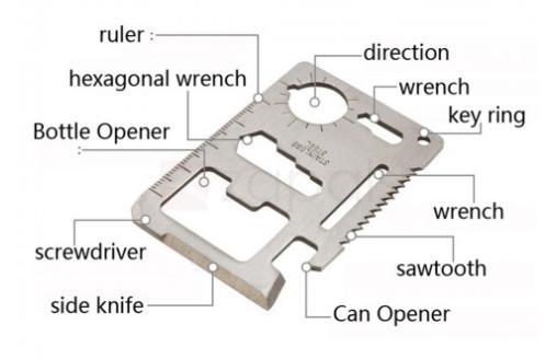 Multitool Gadget bei Zapals